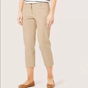 LOFT Outlet - Curvy Crop Khaki Pants
